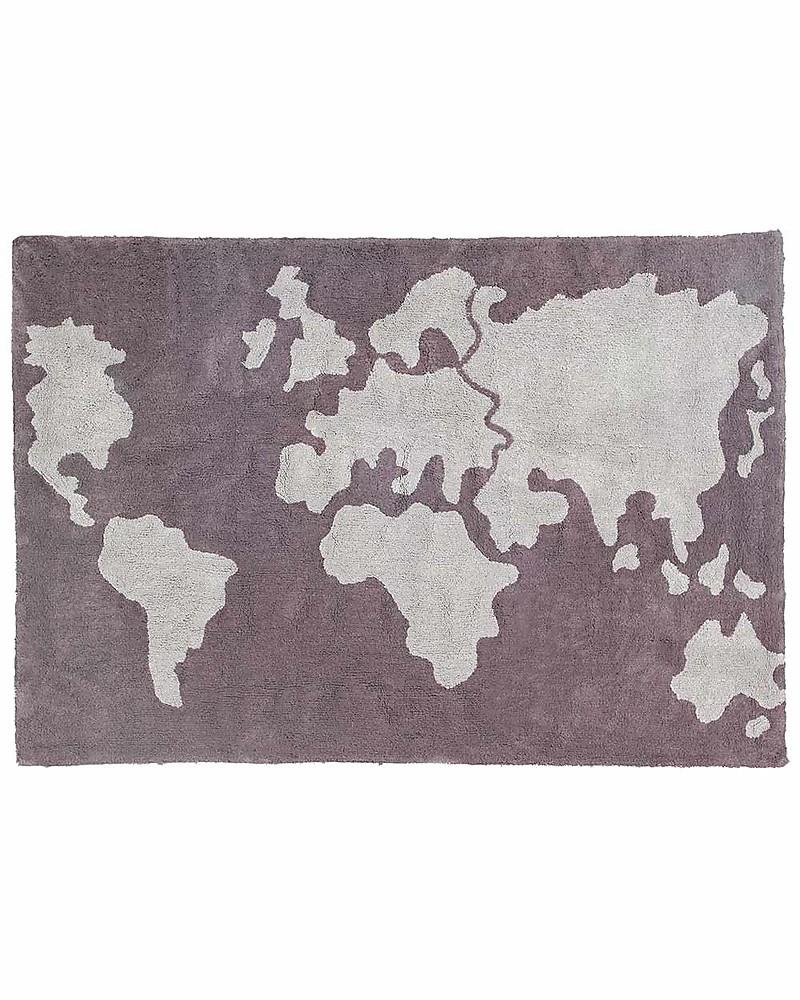 Lorena canals machine washable world map rug grey 100 cotton lorena canals machine washable world map rug grey 100 cotton 140cm x gumiabroncs Choice Image