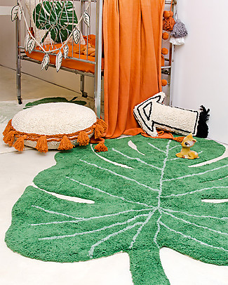 Lorena Canals Monstera Leaf Machine Washable Rug, Green - 120 x 160 cm Carpets