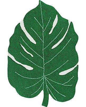 Lorena Canals Monstera Leaf Machine Washable Rug, Green - 120 x 180 cm Carpets