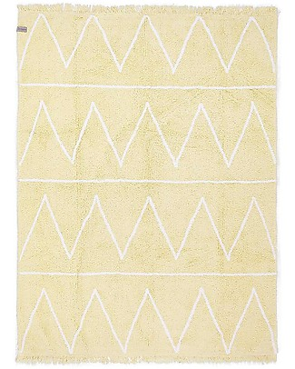 Lorena Canals OUTLET Machine Washable Rug Hippy Yellow 100% Cotton (120 cm x 160 cm) -  Showroom Sample Carpets