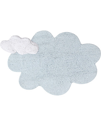 Lorena Canals Puffy Dream, Machine Washable Cloud Rug, Blue - 110 x 170 cm Carpets