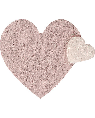 Lorena Canals Puffy Love, Machine Washable Heart Rug, Nude - 160 x 180 cm Carpets