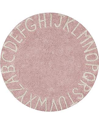 Lorena Canals Round Machine Washable ABC Rug, Nude-Natural - 100% cotton (150 cm diameter) Carpets