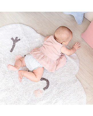 Lorena Canals Shaped Washable Rug Happy  Cloud - 100% cotton (85x120 cm) Carpets