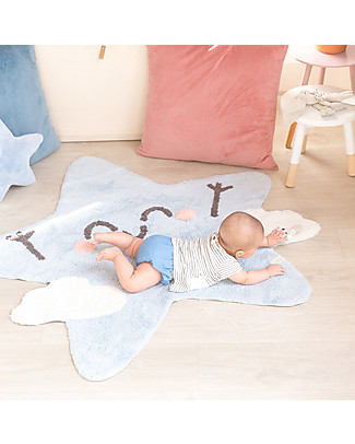 Lorena Canals Shaped Washable Rug Happy  Star - 100% cotton (120x120 cm) Carpets