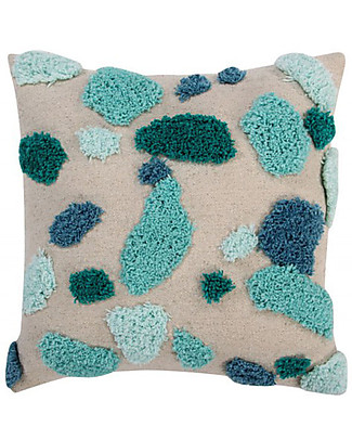 Lorena Canals Square Cushion Terrazzo, Emerald - 100% cotton (40x40 cm) Cushions