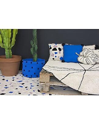 Lorena Canals Square Cushion Terrazzo, Sapphire - 100% cotton (40x40 cm) Cushions