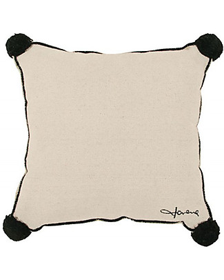 Lorena Canals Square Cushion with Black Border, Beige - 100% cotton (40x40 cm) Cushions