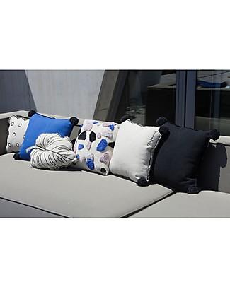 Lorena Canals Square Cushion with Black Border, Black - 100% cotton (40x40 cm) Pillows