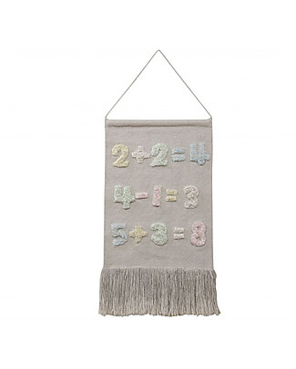 Lorena Canals Wall Hanging Baby Numbers, Back to School - 100% cotton null