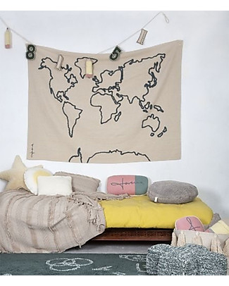 Lorena Canals Wall Hanging Canvas Map, Natural - 120 x 160 cm Room Decorations