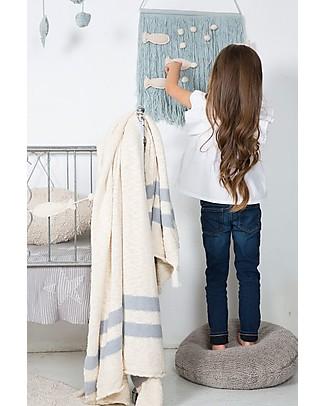 Lorena Canals Wall hanging Ocean, Aqua Blue - 45 x 40 cm Room Decorations