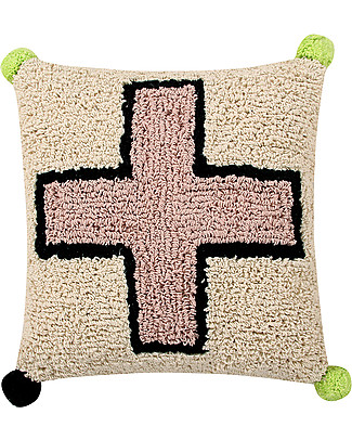 Lorena Canals Washable Cushion, Cross - 38 x 38 cm - Hand-made null