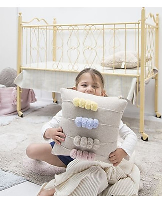 Lorena Canals Washable Knitted Cushion Back to School, Counting Frames (30 x 30 cm) Pillows