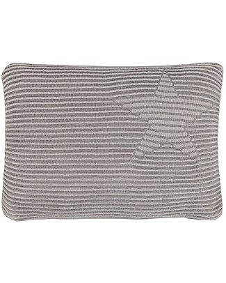 Lorena Canals Washable Knitted Cushion Hippy Stars, Grey (25 x 35 cm) Pillows