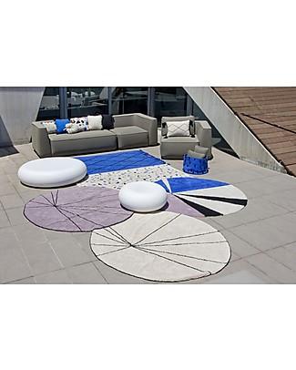 Lorena Canals Washable Round Rug Trace, Beige - 100% cotton (160 cm) Carpets