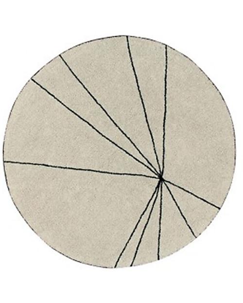 Lorena Cs Washable Round Rug Trace Beige 100 Cotton 160 Cm