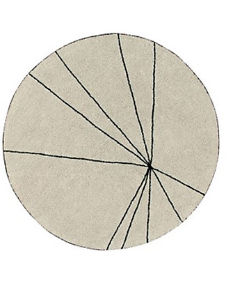 Lorena Canals Washable Round Rug Trace, Beige - 100% cotton (160 cm) Carpets