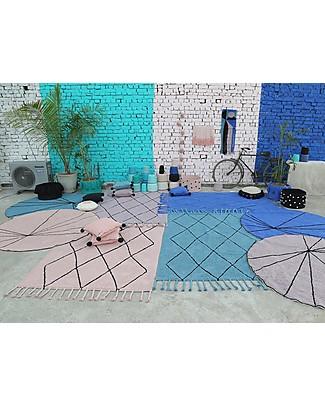 Lorena Canals Washable Rug Bereber, Wood Rose - 100% cotton (140 x 200 cm) Carpets