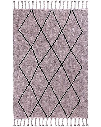 Lorena Canals Washable Rug Bereber, Wood Rose - 100% cotton (140 x 200 cm) Carpets