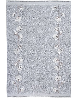 Lorena Canals Washable Rug Cotton Bolls, Pearl Grey - 100% Cotton (120x170cm) Carpets