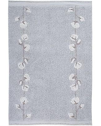 Lorena Canals Washable Rug Cotton Bolls, Pearl Grey - 100% Cotton (120x170cm) Carpets