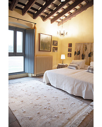 Lorena Canals Washable Rug English Garden, Ivory - 100% Cotton (140x210cm) Carpets