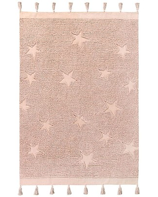 Lorena Canals Washable Rug Hippy Stars, Vintage Nude - 100% Cotton (120 x 175 cm) Carpets