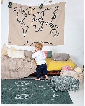 Lorena Canals Washable Rug I Love Math, Back to school - 100% Cotton (140 x 200 cm) Carpets