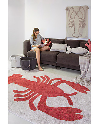 Lorena Canals Washable Rug Lobster - 100% Cotton (140x200cm) Carpets