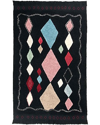Lorena Canals Washable Rug Meknes, Marocco Black - 100% Cotton (140 x 200 cm) Carpets