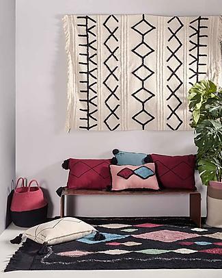 Lorena Canals Washable Rug Meknes, Marocco Black - 100% Cotton (140 x 200 cm) Carpets