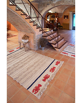 Lorena Canals Washable Rug Mini Lobster, Large - 100% Cotton (170x240 cm) Carpets