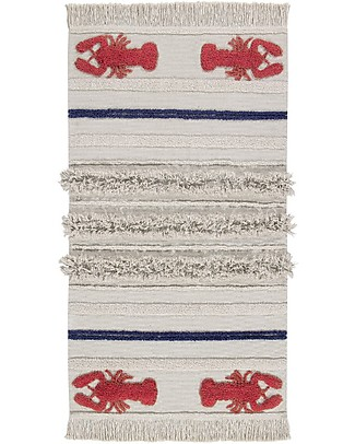 Lorena Canals Washable Rug Mini Lobster, Small - 100% Cotton (80x140 cm) Carpets