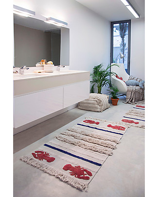 Lorena Canals Washable Rug Mini Lobster, Small - 100% Cotton (80x140 cm) Carpets