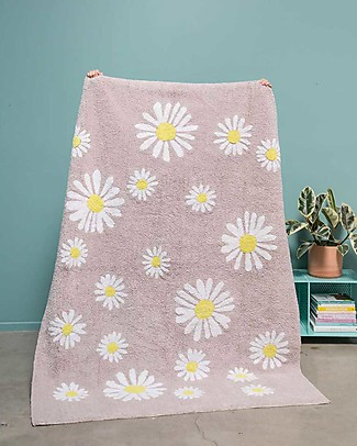 Lorena Canals Washable Rug OhJoy, Happy Daisies - 100% Cotton (140 x 200 cm) Limited edition! Carpets