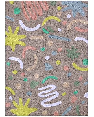 Lorena Canals Washable Rug OhJoy, Happy Party - 100% Cotton (140 x 200 cm) Limited edition! null