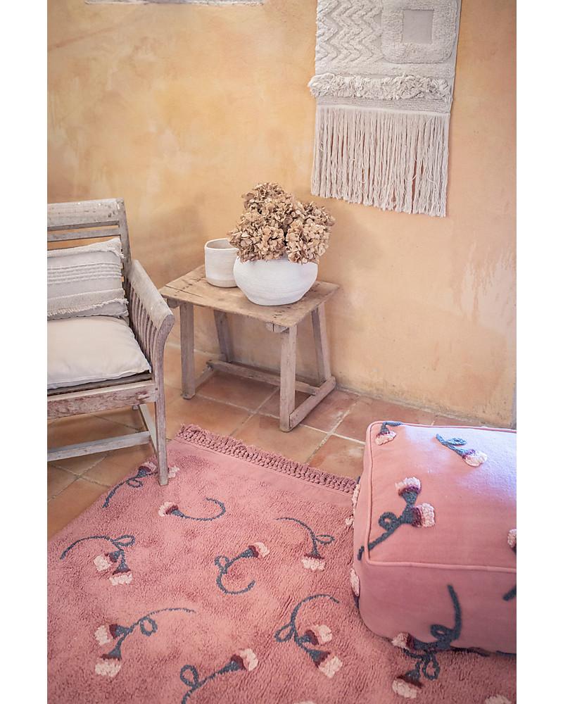 Designer carpet wool rug living room carpet ornaments fringe cream pink rose