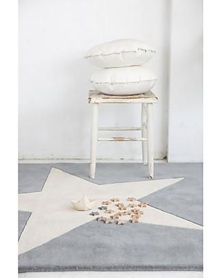 Lorena Canals Wool Rug Big Star, Light Grey - Base 100% cotton (140 x 200 cm) Carpets