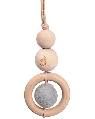 Loullou Baby Dot, Hanging Toy, with Blue Dot - Wood Baby Gym