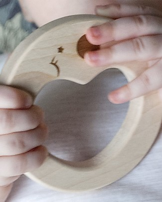 Loullou Natural Teether, Heart Toy - Maple Wood Teethers