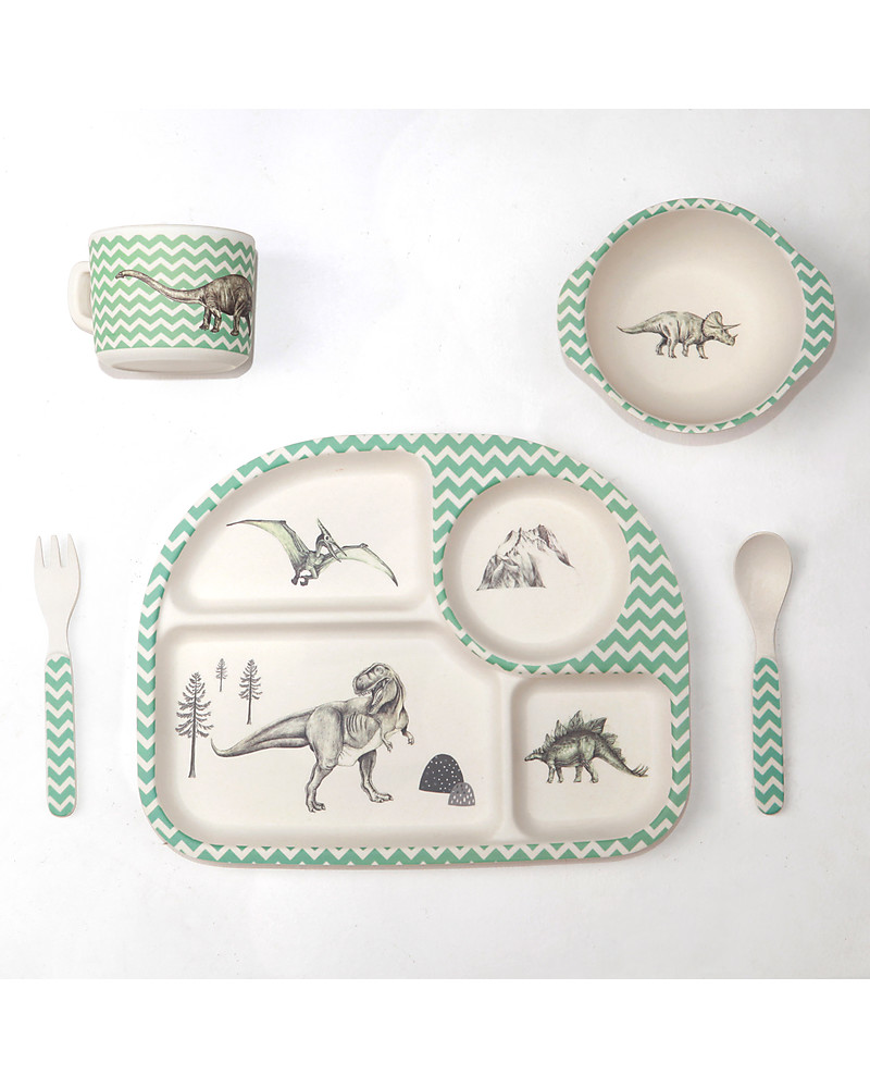 Love Mae 5-pieces Bamboo Dinner Set Dinosaur Feast u2013 Durable and ecological!  sc 1 st  Family Nation & Love Mae 5-pieces Bamboo Dinner Set Dinosaur Feast u2013 Durable and ...