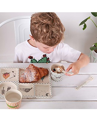 Love Mae 5-pieces Bamboo Dinner Set, Forest Feast – Durable and ecological! Perfect gift idea! Bowls & Plates