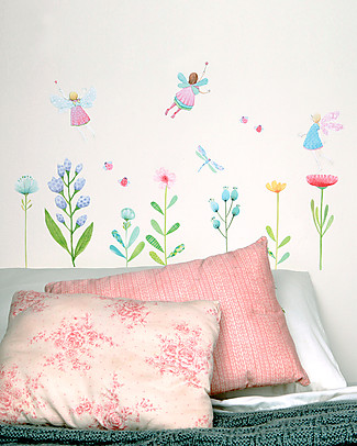 Love Mae Fabric Wall Stickers, Fairy Garden - Repositionable and Biodegradable! Wall Stickers