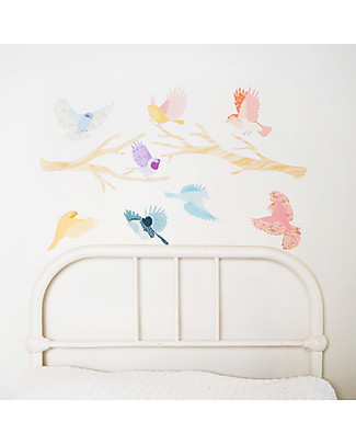 Love Mae Fabric Wall Stickers Flying twitters, Girly - Repositionable and Biodegradable! Wall Stickers