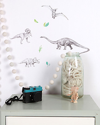 Love Mae Mini Fabric Stickers, Dinosaurs - Repositionable! Great gift idea for adults too! Wall Stickers