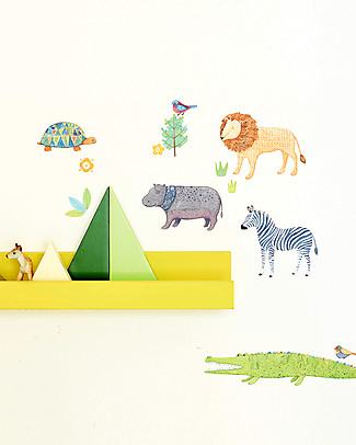 Love Mae Mini Fabric Stickers, Safari - Repositionable! Great gift idea for adults too! Wall Stickers