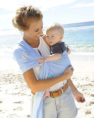 Lucky Baby Lightweight Baby Sling - SUKKIRi - Ideal for Summer - Light Blue Baby Slings