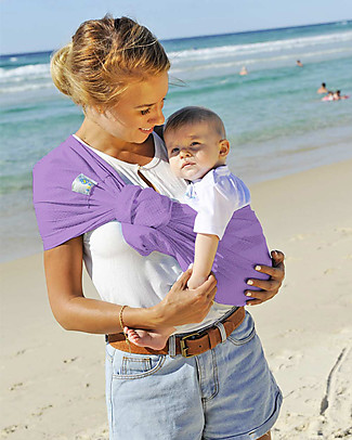 Lucky Baby Lightweight Baby Sling - SUKKIRi - Ideal for Summer - Lilac Baby Slings