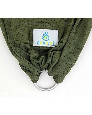 Lucky Baby Lightweight Baby Sling - SUKKIRi - Ideal for Summer - Olive Green Baby Slings